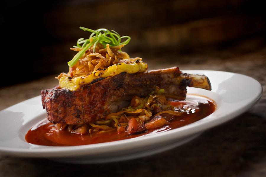 Double Cut Pork Chop Al Pastor by Chicago Food Photographer