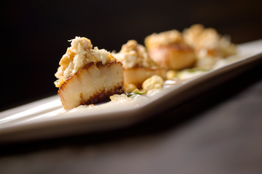 Chicago Food Photographer scallops