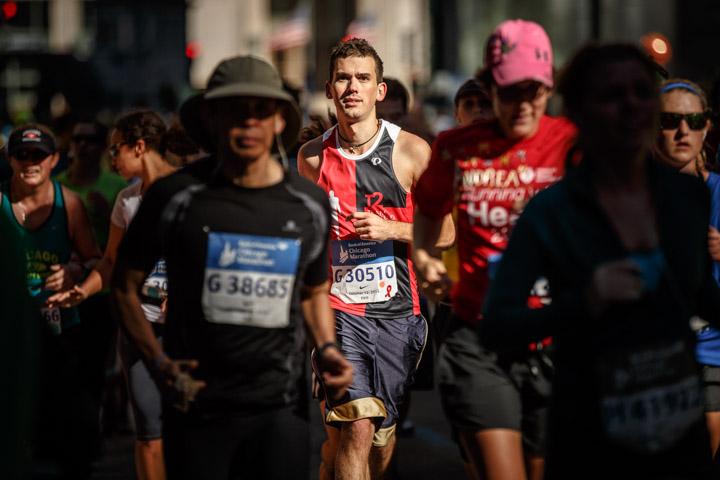 Model runs during the Chicago Marathon
