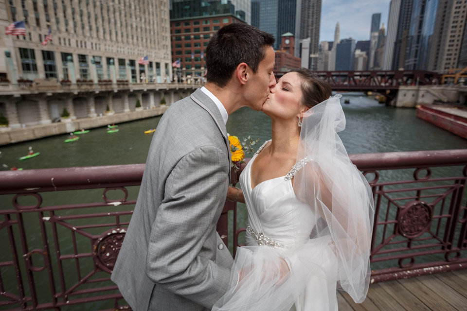 First Kiss Chicago Wedding Photography