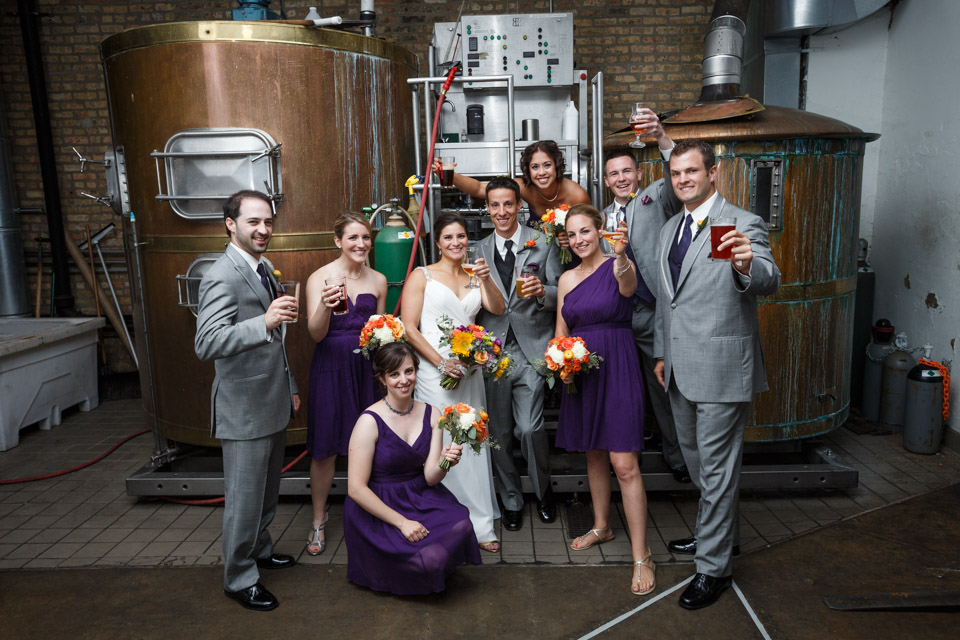 Revolution Brewery Chicago Wedding Photography