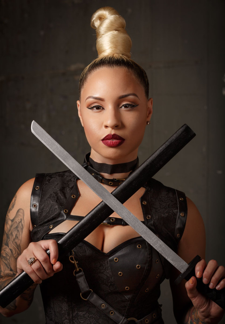 Katrinia Jackson, Kat Tat Girl from VH1 black in crew Chicago celebrity portrait photographer