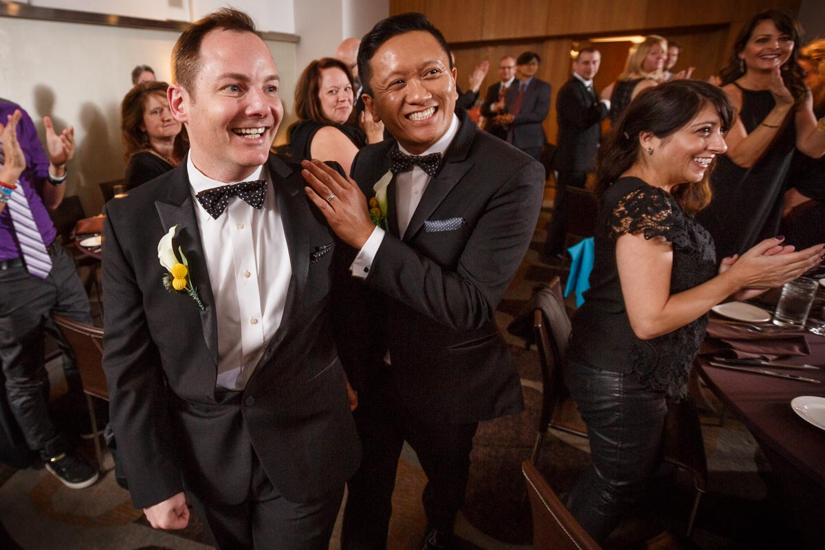 Illinois gay wedding photography: Clemson & Charles get at married at the James Hotel in Chicago
