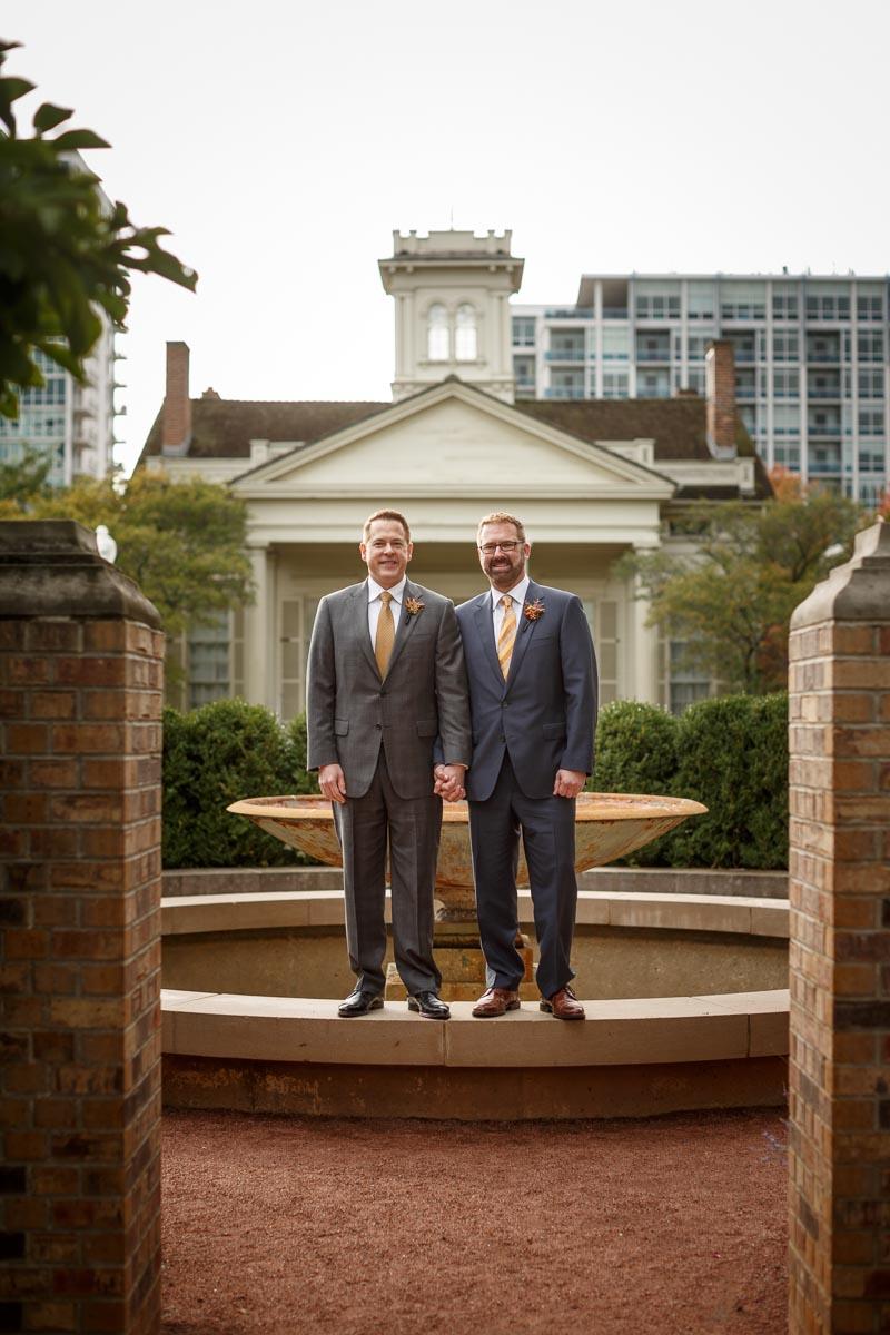 Chicago same-sex wedding photography: David & Lyle