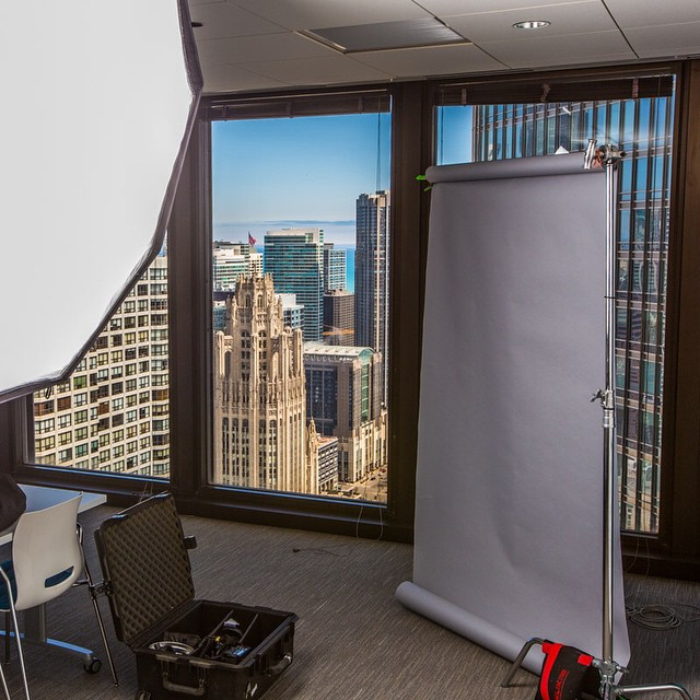Chicago Business Headshot Photographer behind the scenes