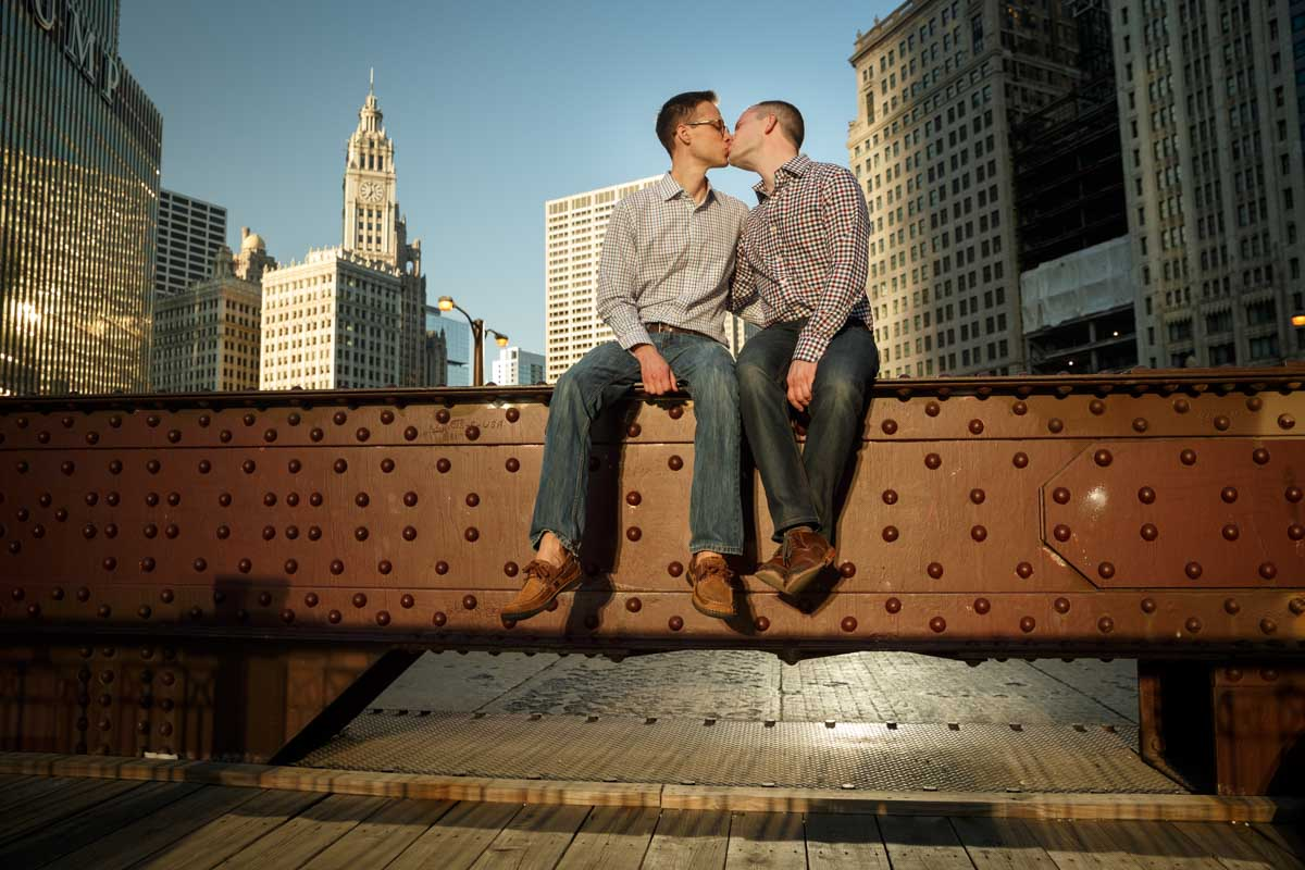 Illinois LGBT Wedding Photography gay engagement photographer in Chicago