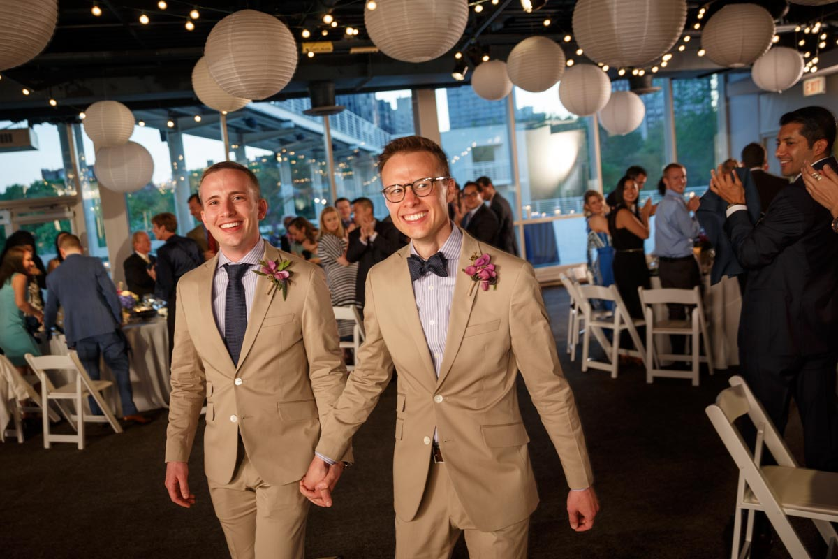Illinois LGBT Wedding Photography gay wedding at the Peggy Notebaert Nature Museum in Chicago