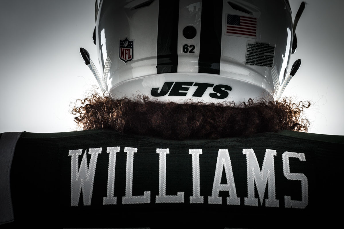 Editorial portrait photography of New York Jets Leonard Williams by Chicago Photographer John Gress