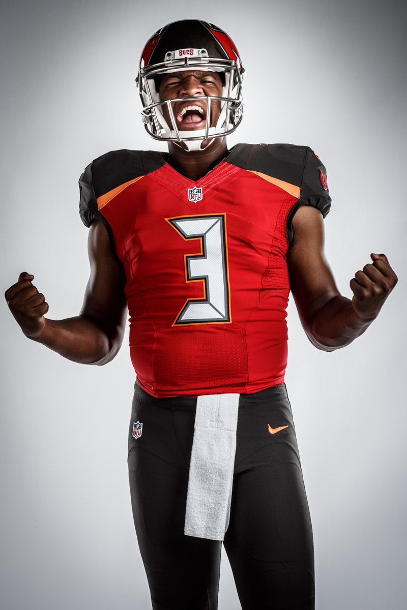 Editorial portrait photography of Tampa Bay Buccaneers Jameis Winston by Chicago Photographer John Gress