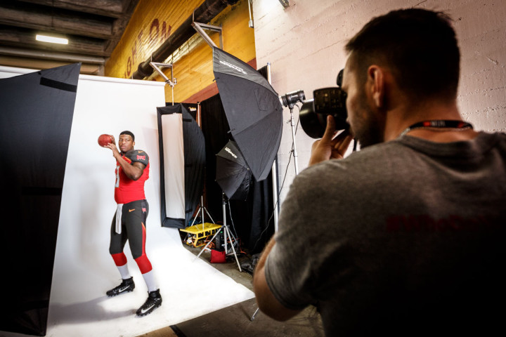 behind the scenes Editorial portrait photography of Tampa Bay Buccaneers Jameis Winston by Chicago Photographer John Gress
