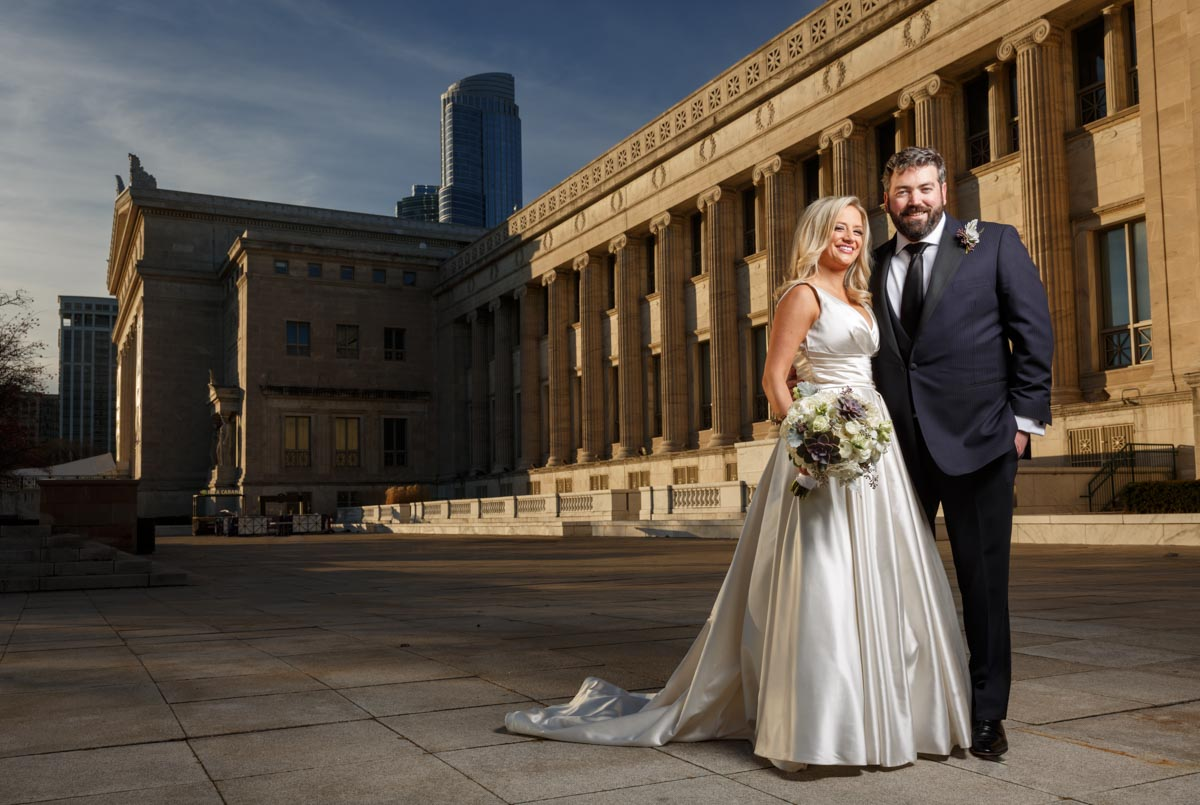 Chicago wedding photographer engagement photography at field museum portrait