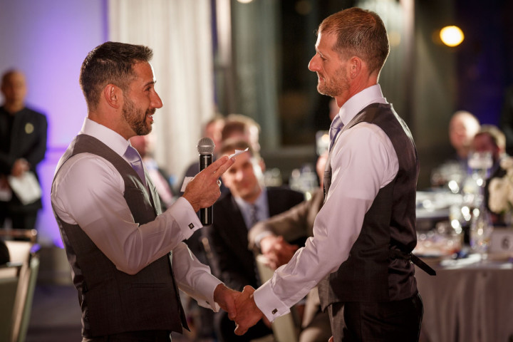 Gay wedding at the Thompson Hotel Chicago