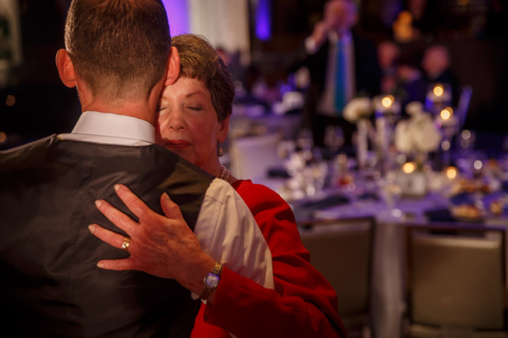 Mother Son dance at a gay wedding at the Thompson Boutique hotel in Chicago
