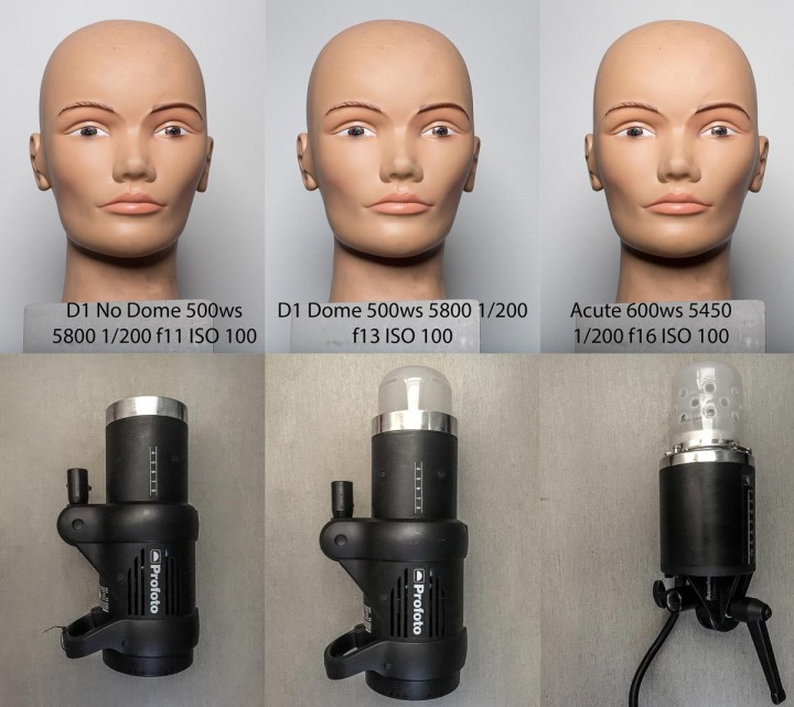 Profoto D1 500 AIR Monolight acute2 dome color balance test