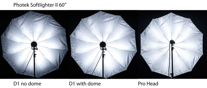 "Photek Softlighter II 60"" test with different Profoto heads"