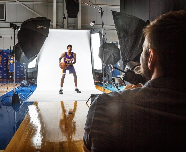 Basketball portraits behind the scenes with Ingram