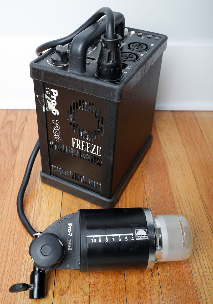 Profoto 6 1200 Freeze with Pro7 head