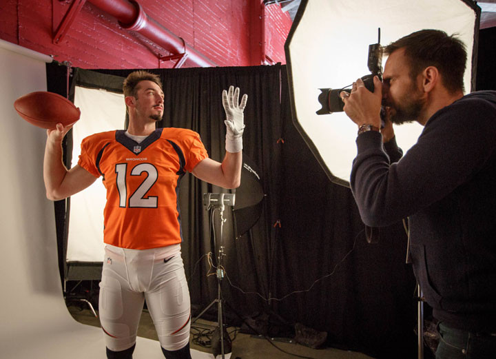 Denver Broncos Paxton Lynch poses for a portrait by LA photographer John Gress