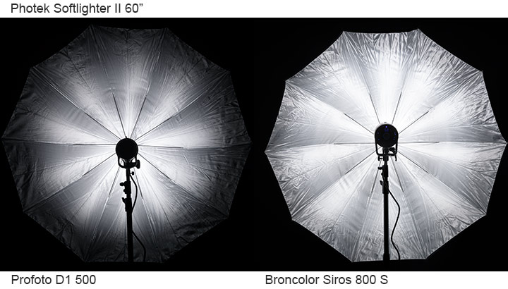 Broncolor Siros 800S vs Profot D1 Air 500 lighting test