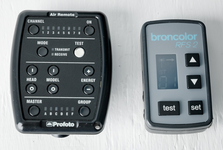 Brocolor 2.1 remote control compared to the Profoto Air Remote