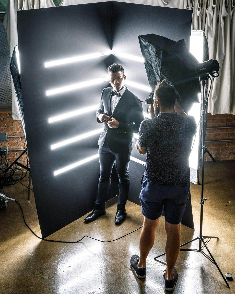 Chicago behind the scenes photography DIY background fashion models profoto