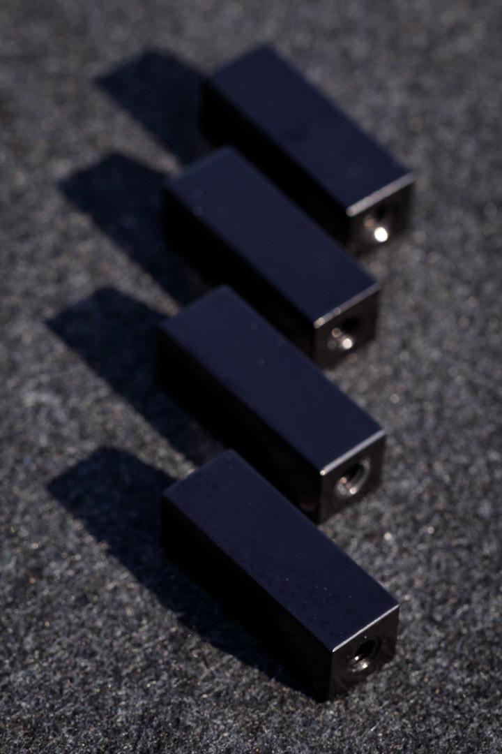 """4 2"""" Standoff, Square, Aluminium, 5/16-18, 3/4 tube."""