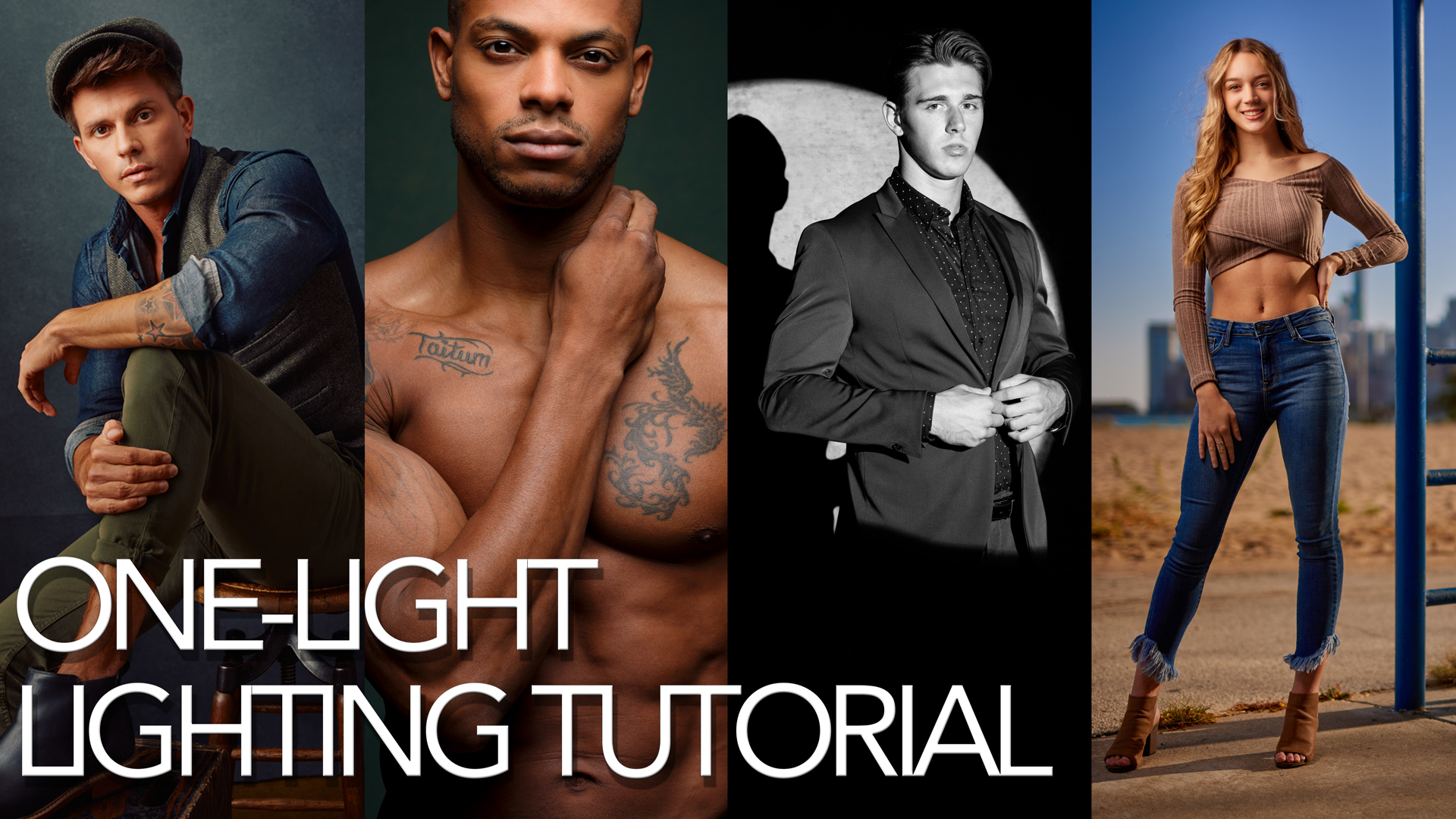 4 amazing one-light set-ups in only 10 minutes!